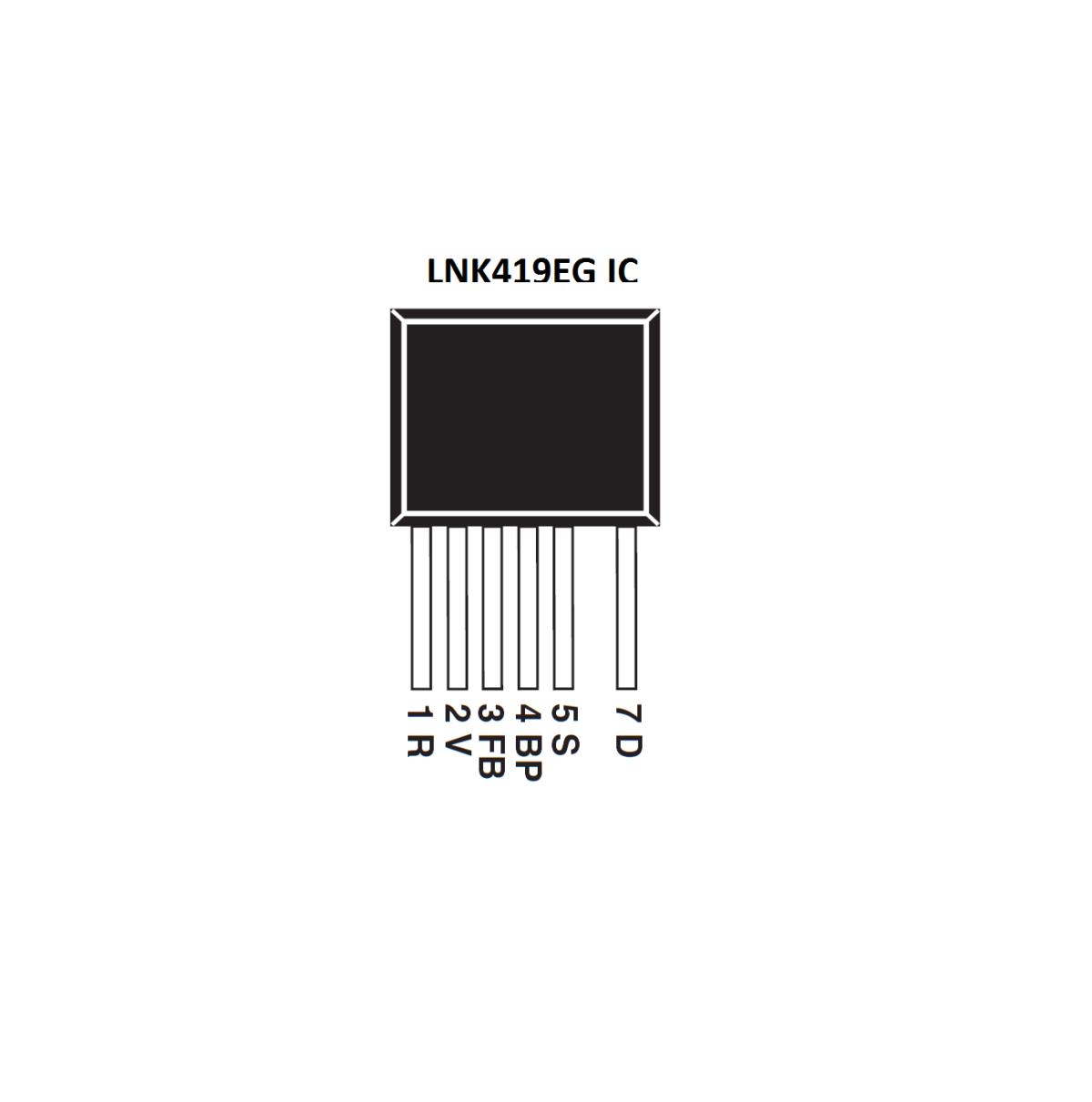 LNK419EG IC-Power Integrations-LED Driver Off Line Switcher IC