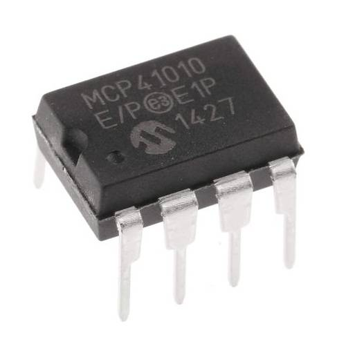 MCP41010 IC-8-Bit Digital 10K Potentiometer with SPI Interface IC