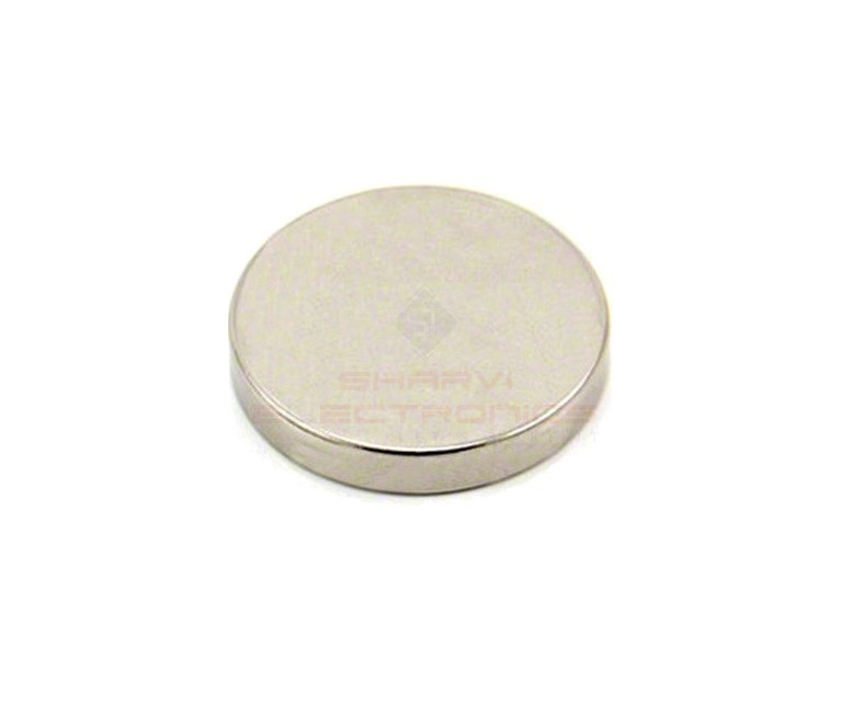 Neodymium Disc Shaped Strong Magnet - 10mm x 2.5mm sharvielectronics.com