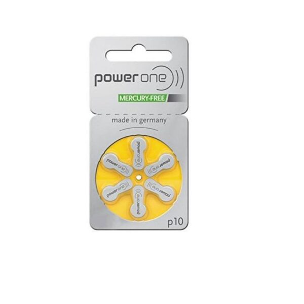 Hearing AID Battery-P10-PowerOne-6 Pieces Pack