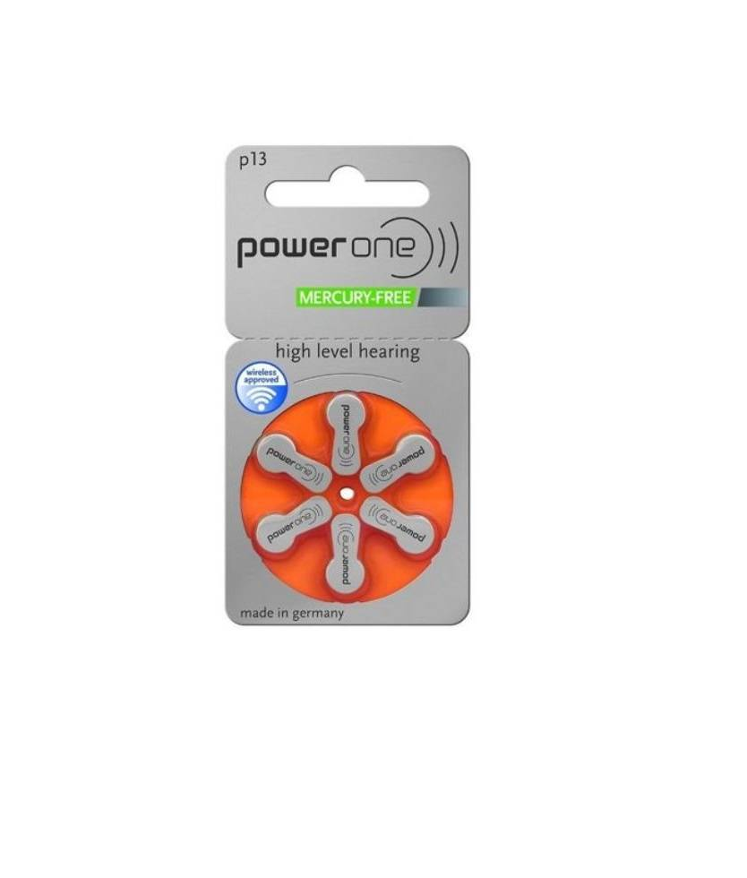 Hearing AID Battery-P13-PowerOne-6 Pieces Pack
