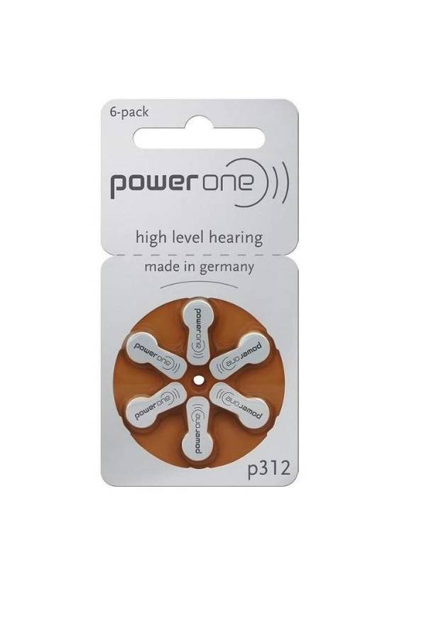 Hearing AID Battery-P312-PowerOne-6 Pieces Pack