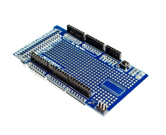 Sharvielectronics: Best Online Electronic Products Bangalore | Prototype Shield Protoshield for Arduino Mega with Mini Breadboard 2 | Electronic store in bangalore