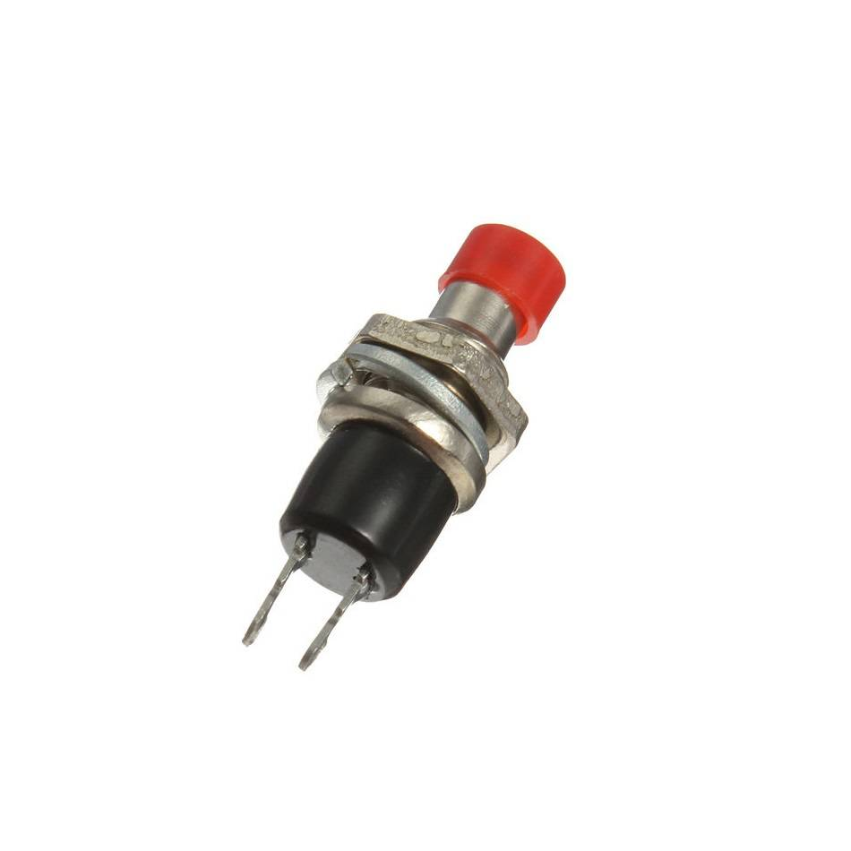 Push Button-Red Steel Switch-Reset-SPST