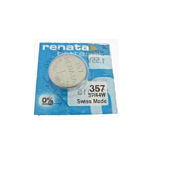 SR44-1.55V/190mAh-Silver Oxide Button Cell-357 Renata