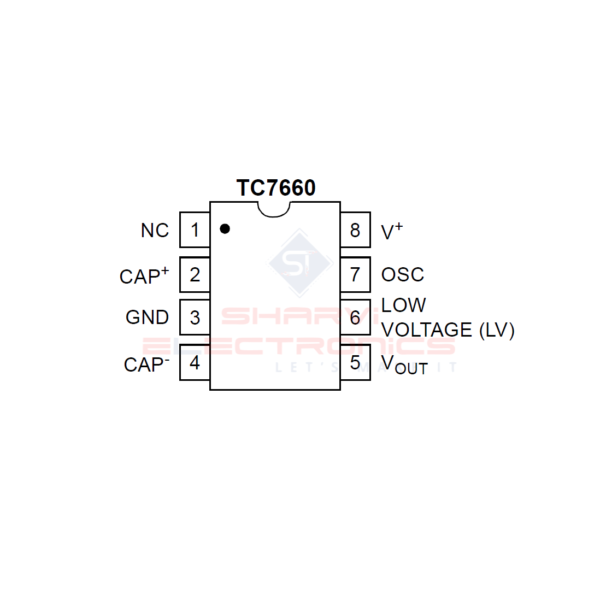 TC7660 IC-Charge Pump DC to DC Voltage Converter IC