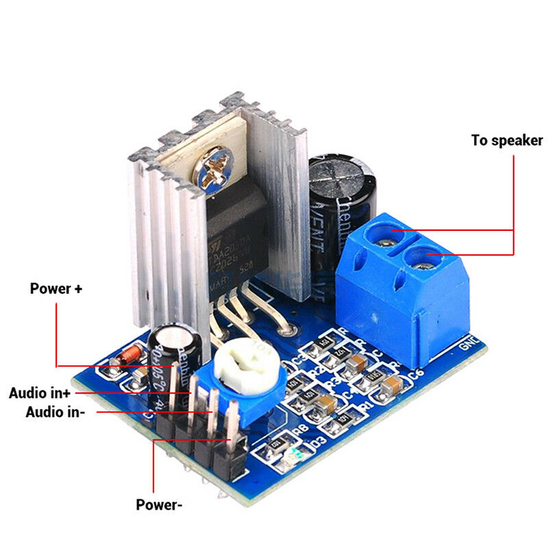 Sharvielectronics: Best Online Electronic Products Bangalore | TDA2030A Audio Amplifier Board Module Single Mono | Electronic store in bangalore