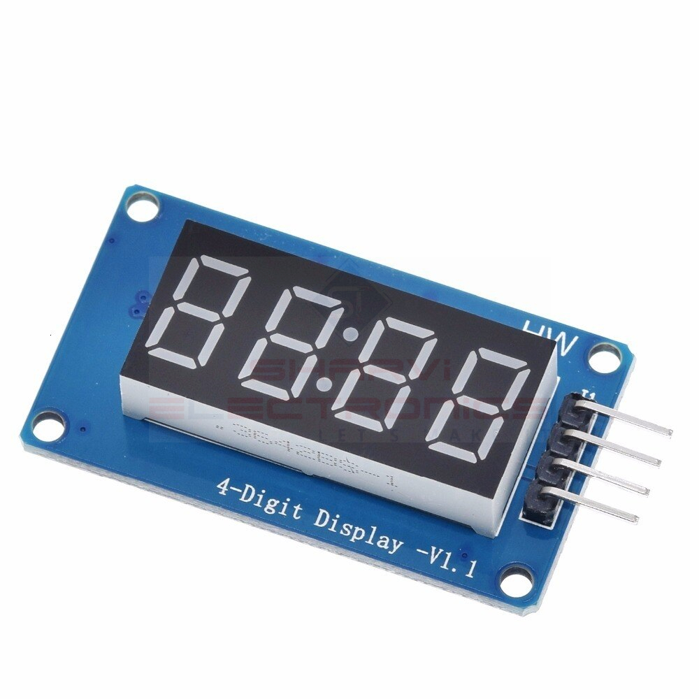 TM1637 4 Bits Digital Tube LED Display Module With Clock Display for Arduino sharvielectronics.com