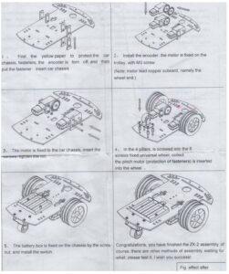 Transparent Robot Smart Car Chassis Kit sharvielectronics.com