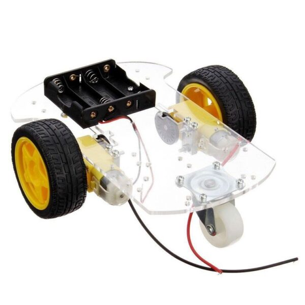 Transparent Robot Smart Car Chassis Kit sharvielectronics.com
