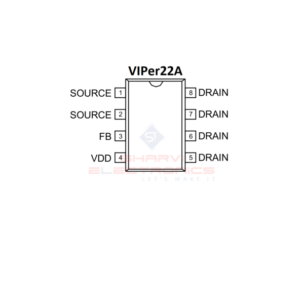 VIPer22A IC-Low Power OFF line SMPS Primary Switcher IC