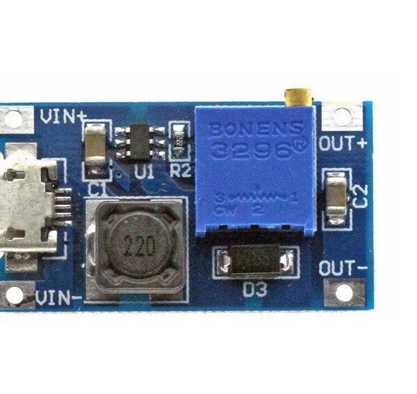 MT3608 Adjustable Boost 2A Step Up Module micro USB