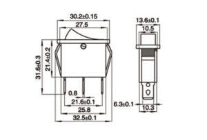 SPDT Center-Off Rocker Switch sharvielectronics.com
