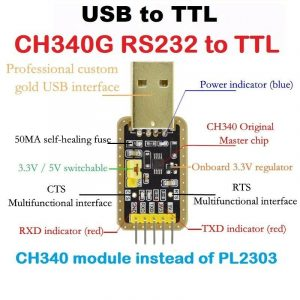 Sharvielectronics: Best Online Electronic Products Bangalore | CH340G USB to TTL Converter3 | Electronic store in bangalore