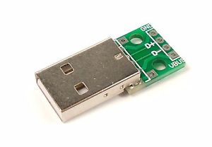 USB Type-A Breakout Board–Male sharvielectronics.com