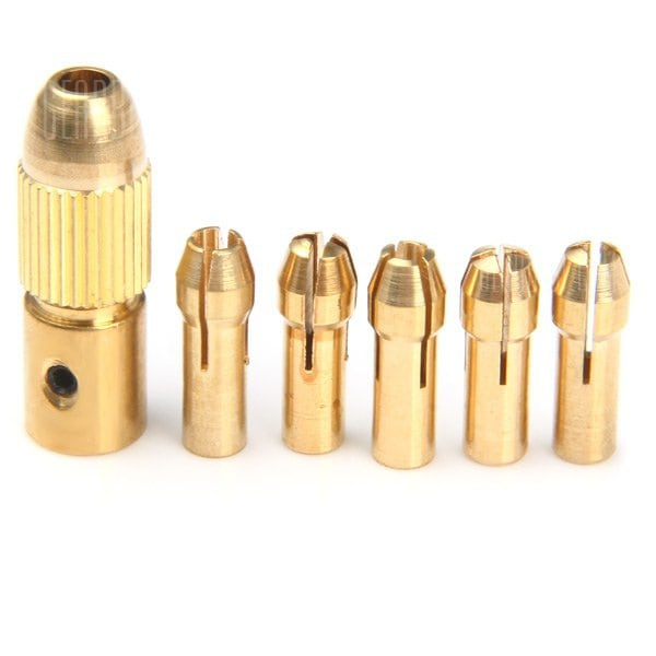 WLXY DIY001 Drill Center Shaft with Five Chuck 0.5mm to 3.0mm sharvielectronics.com