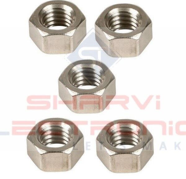 M3 Nut for Threaded Hex Nut 3mm-5 Pieces Pack sharvielectronics.com