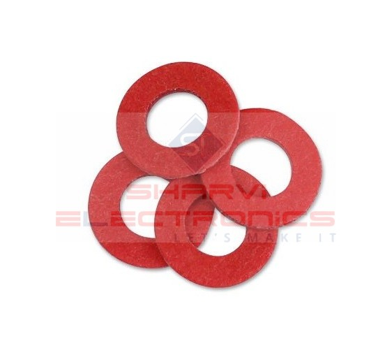3x8x0.8mm Insulated Fiber Washers Red-5 Pieces Pack sharvielectronics.com