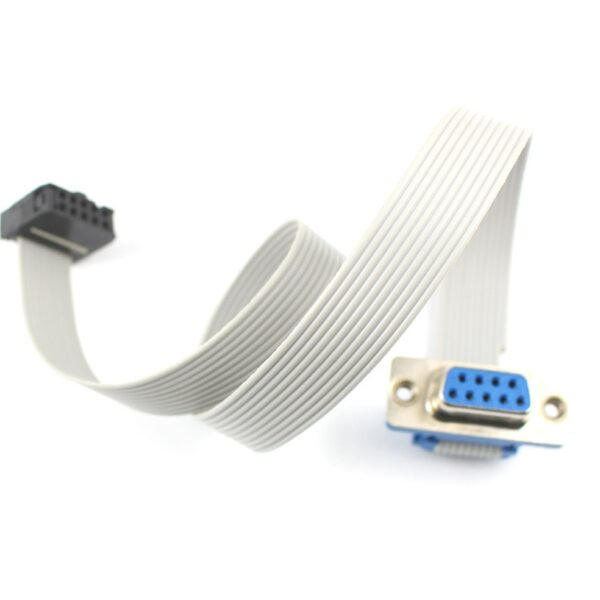 D-SUB DB9 9 Pin Female Connector To IDC Female Connector With 10 Pin Flat Cable - 30CM sharvielectronics.com