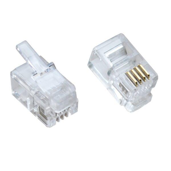 RJ9 4 Pin Male Plug sharvielectronics.com