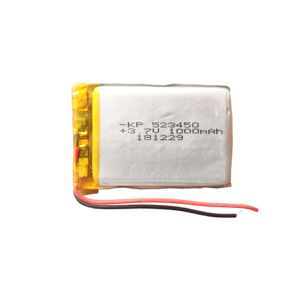 Lipo Rechargeable Battery-3.7V/1000mAH-KP-523450 Model