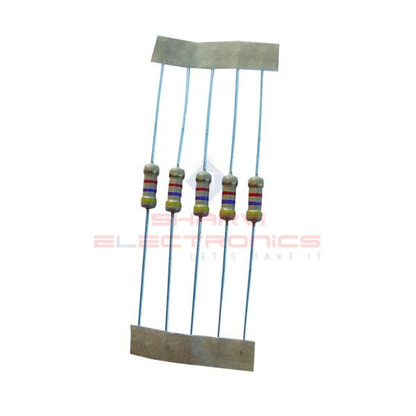 22 Ohm 1/2 Watt Resistor – 5 Pieces Pack