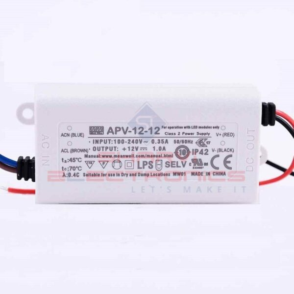 APV-12-12 Mean Well SMPS - 12V 1A 12W LED Power Supply