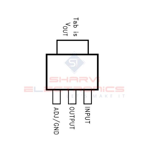 LM1117 - 3.3V/800mA - Low Dropout Linear Regulator - SOT223 Package_2
