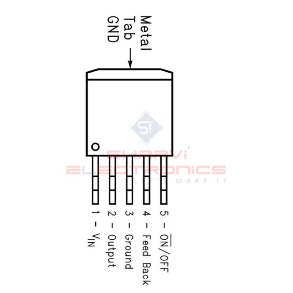 LM2596S-Adj - 150KHz 3A Step-Down Voltage Regulator - TO-263 Package-2