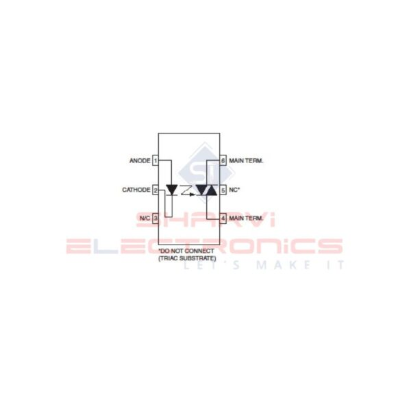MOC3052 - Phase TRIAC Driver Optocoupler - 600V Peak - 6-Pin DIP_2