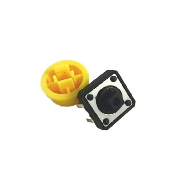 Tactile Push Button Switch With Round Cap - 12x12x7.3mm