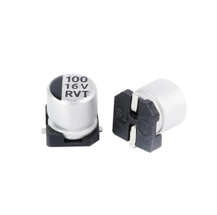100uF 16V Elec Capacitor – SMD – Pack of 5 sharvielectronics.com