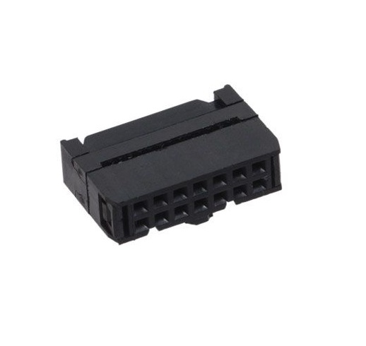 14 Pin Straight Female IDC Socket Connector - 2.54mm (FRC Connector) sharvielectronics.com