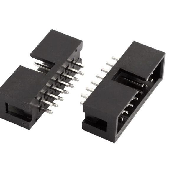 14 Pin Straight Male IDC Socket Connector - 2.54mm (FRC Connector) sharvielectronics.com