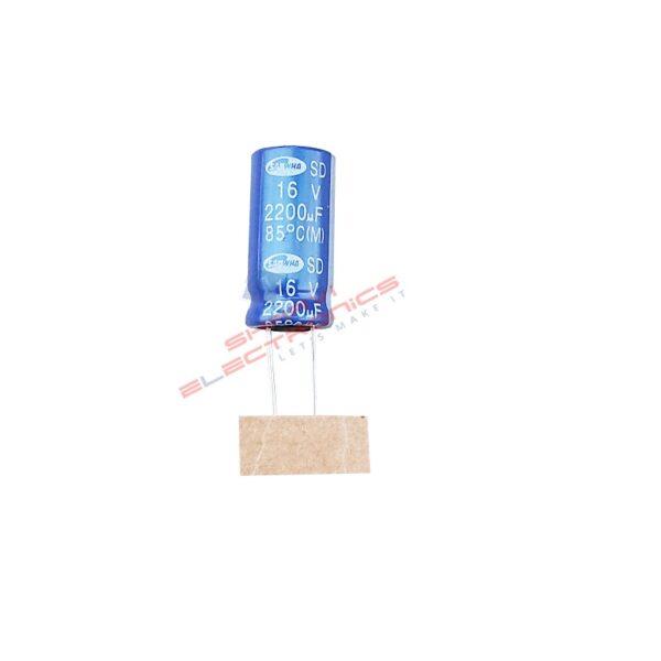 2200uF 16V Electrolytic Capacitor – Samwha