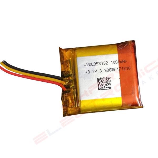 3.7V 1080mAH (Lithium Polymer) Lipo Rechargeable Battery Model VDL953132