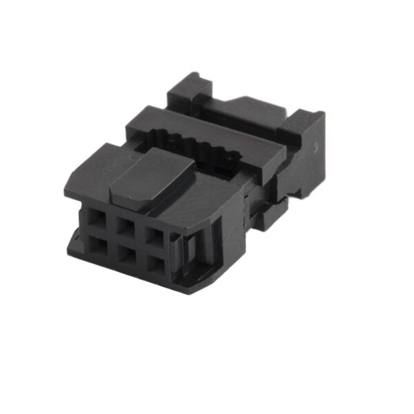 6 Pin Straight Female IDC Socket Connector - 2.54mm (FRC Connector) sharvielectronics.com