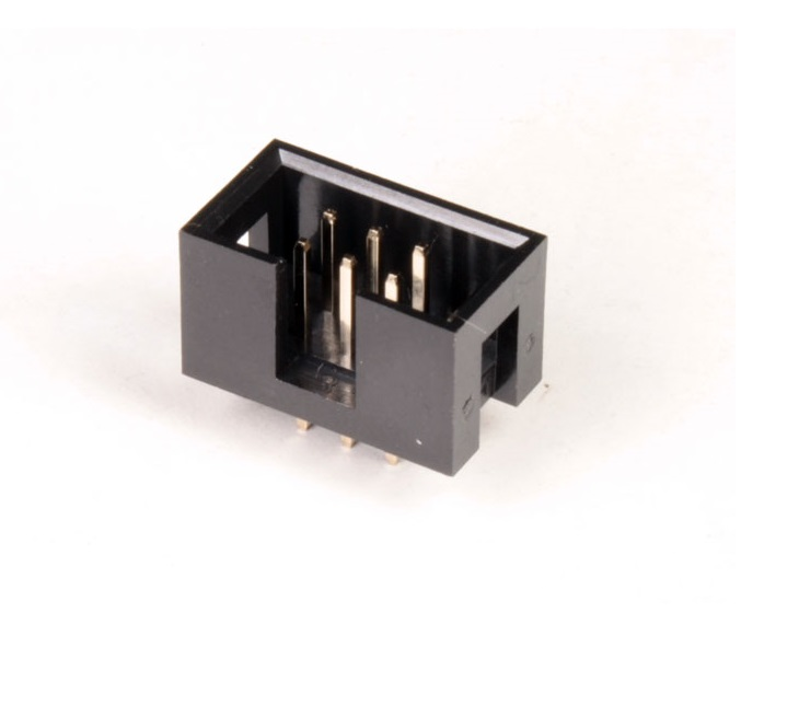 6 Pin Straight Male IDC Socket Connector - 2.54mm (FRC Connector) sharvielectronics.com