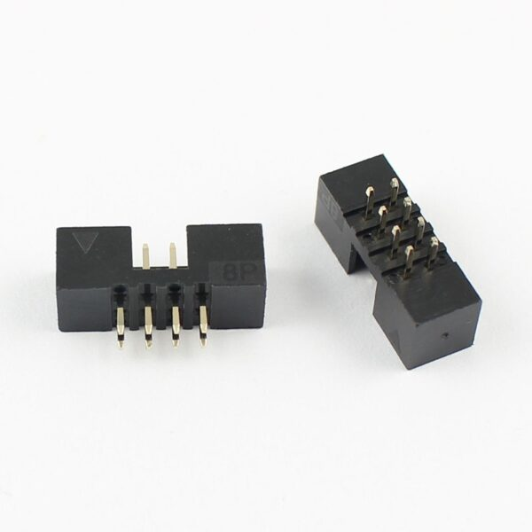 8 Pin Straight Male IDC Socket Connector - 2.54mm (FRC Connector) sharvielectronics.com