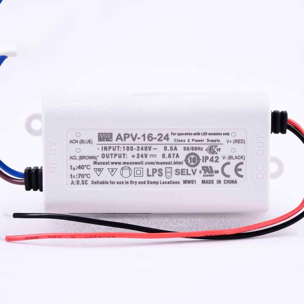 APV-16-24 Mean Well SMPS - 24V 0.67A 16.08W LED Power Supply sharvielectronics.com