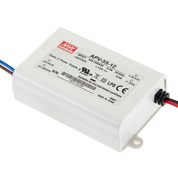 APV-35-12 Mean Well SMPS - 12V 3A 36W LED Power Supply sharcielectronics.com