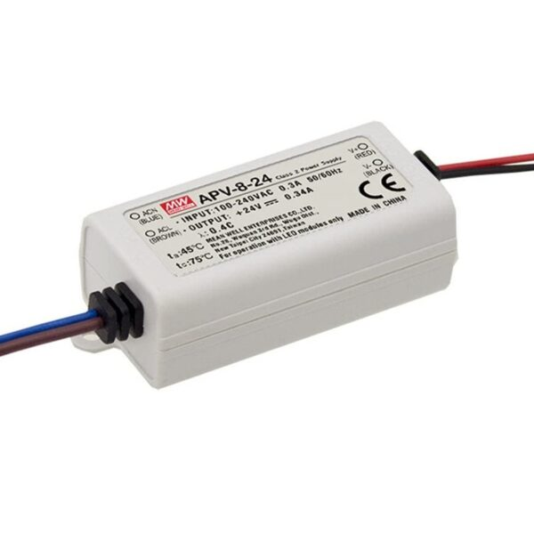 APV-8-24 Mean Well SMPS - 24V 0.34A 8.16W LED Power Supply sharvielectronics.com