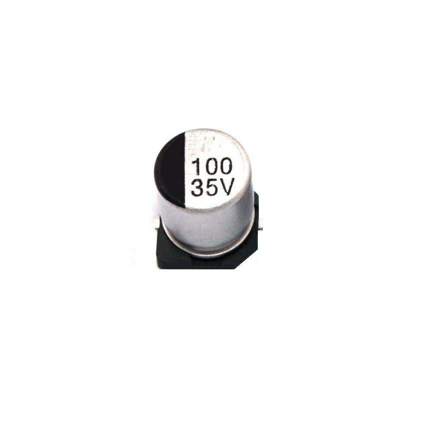 100uF 35V Elec Capacitor – SMD – Pack of 5