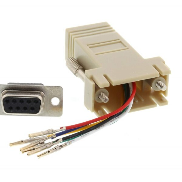 DB9 Female to RJ45 Modular Adapter Ivory sharvielectronics.com