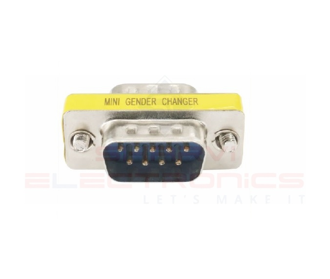 DB9 Mini Gender Changer - Male to Male sharvielectronics.com