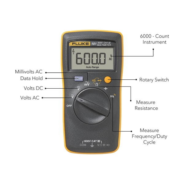 Sharvielectronics: Best Online Electronic Products Bangalore | FLUKE 101 Digital Multimeter 1 | Electronic store in bangalore