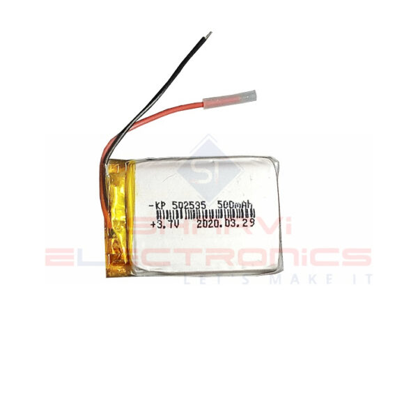 Lipo Rechargeable Battery-3.7V500mAH-KP-502535 Model sharvielectronics.com