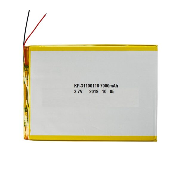 Lipo Rechargeable Battery-3.7V7000mAH-KP-31100118 Model sharvielectronics.com