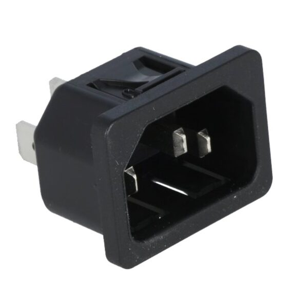 Male Power Cord Connector Panel Mount sharvielectronics.com