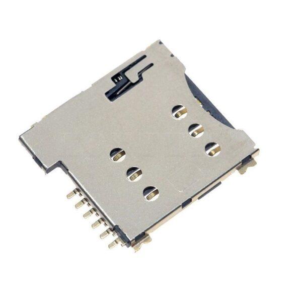 Micro SIM Card Holder Socket Push Type Sim Card Holder 6-Pin sharvielectronics.com